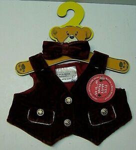 New on Hanger Build A Bear Holiday Velet Vest