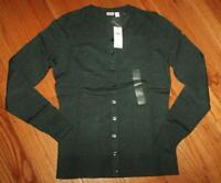 NEW NWT Womens GAP Cardigan Sweater Crewneck Slim Fit Olive Green Heather *1R
