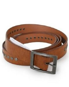 Pieces Womens Slim Fit Studded Double Belt New Tags Various Size Tan Belt - new