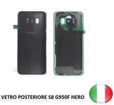 SCOCCA VETRO POSTERIORE RETRO BACK COVER SAMSUNG GALAXY S8 G950F NERO