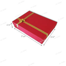 "NECKLACE DISPLAY JEWELRY GIFT BOX LARGE RED NECKLACE BOX GIFT BOX 1.5""H <DEAL>"