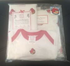 NEW Swaddle Designs Angry Birds Baby Blanket Burp Cloths Outfit Layette Set Red