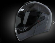 NiTEK Diamond N260 True Carbon Fiber Glossy Black Modular Helmet Medium