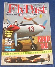 FLYPAST MAGAZINE DECEMBER 1988 - FURIES FROM CUBA/JUGS FROM PERU/RENO '88