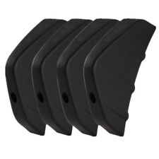 4pcs Universal Car Rear Bumper Diffuser Kit Moulding Fins Decoration Black PVC