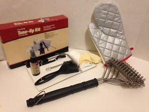 "BBQ Grill Bristle Free Brush 18"" & 6 Pc Grill Tune Up Kit"