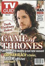 Tv Guide Magazine Game Of Thrones Kit Harrington Mad Men Orphan Black Salem 2014