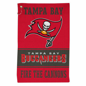 """TAMPA BAY BUCCANEERS ALL PURPOSE GOLF TAILGATE TOWEL 16""""X25"""" HOOK AND GROMMET"""
