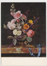 CP ART TABLEAU AELST WILLEM VAN Blumenvase mit Taschenuhr