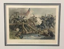 Civil War Battle Of Manssas Colored Steel Engraving by FOC. Darley & W. Ridgway