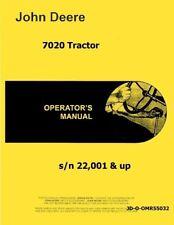 John Deere 7020 Tractor Operators Owners Manual Omr55032