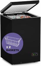 PROICER Chest Freezer Free-Standing Top Door Freezers 6.8? to -4? (Black, 3.5 cu