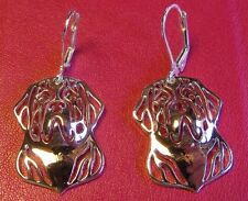 SAINT ST BERNARD Dog Earrings ~ Silver Tone ~ Dog Lover  ~ Cute!