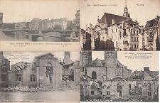 Lot 4 cartes postales anciennes GUERRE 14-18 WW1 VERDUN 11
