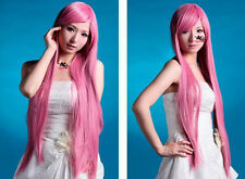 Vocaloid Luka Pink Long 100CM Fashion Straight Cosplay Wig +cap   AE137