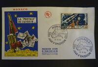 MONACO PREMIER JOUR FDC YVERT  636     FUSEE - PHILATEC     1F   1964