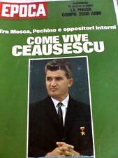 Epoca 1094 1971 Come vive Ceausescu Romania