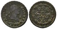 Spain-Carlos IV. 1 Maravedi. 1799. Segovia. MBC+/VF+. Cobre 1,1 g. Escasa