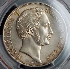 """1855, Bavaria, Maximilian II. Silver 2 Gulden """"Marian Column"""" Coin. PCGS MS-64!"""