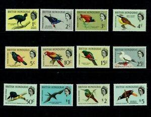 British Honduras: 1962, Birds definitive set, Mint lightly hinged.