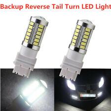 2Pcs White 3157 3156 33SMD Strobe LED Bulbs for Brake Tail Backup Reverse Light