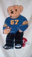 Vintage Ralph Lauren Sport Bear Football Player Giant Beach Towel Euc