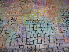 3 Yards Cotton Fabric - Timeless Treasures Tonga Batik Broken Lines Purple Multi
