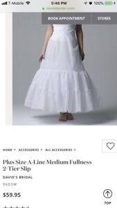 Davids Bridal A-line slip Plus Size