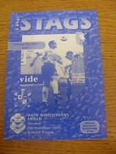 07/12/1999 Mansfield Town v Bury [Auto Windscreens Shield] .  Thanks for viewing