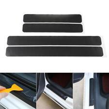 4x Umbrales Puerta Listones Cubierta Diseño Lámina + Raspador Carbono Negro