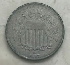 1867 Shield Nickel Without Rays No Rays
