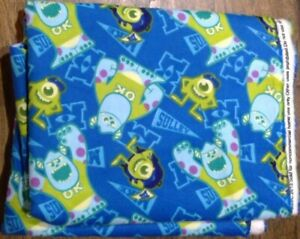 Print Flannel Fabric 2 Yard - Monsters Inc, Disney - NEW