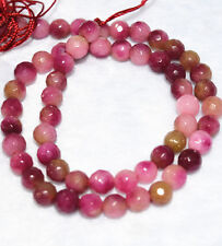 New Natural 6mm Faceted Multicolor Kunzite Gemstone loose Beads 15""