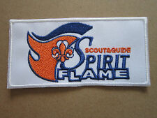 Scout & Guide Spirit Flame Woven Cloth Patch Badge Boy Scouts Scouting