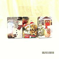Collectible Holiday Card Tins Set of 3 2014 2015 2017