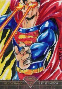 Cryptozoic DC Superman The Legend Sketch Card By M J San Juan