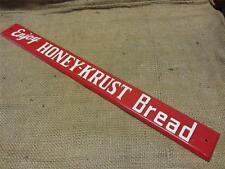 Vintage Embossed Honey Krust Bread Door Push Sign > Antique Old Kitchen 9059