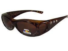 Sonnen-Überbrille Leo mit Strass UV400 Polarisiert für Brillenträger Polbrille