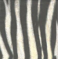 3 Serviettes en papier Cocktail Peau zèbre Afrique - Paper Napkins Zebra Couture