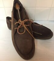 Vans Surf Siders Mens 13 Brown Leather  moccasins T375 shoes Nubuck