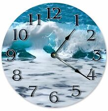 "10.5"" OCEAN SEA FOAM CLOCK - Large 10.5"" Wall Clock - Home Décor Clock - 3201"