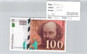 Ticket France 100 Francs 1997 Pick 158a X797