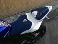 Yamaha YZF R6 2006-2007 design Volcano Saddle cover Anti scivolo Set Blue White