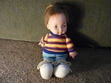 Lapsitter 1974 Fisher Price Boy Doll Toy #206 Cloth Baby Doll Joey GUC