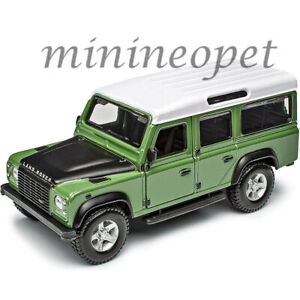 BBURAGO 18-43029 LAND ROVER DEFENDER 110 1/32 DIECAST with WHITE TOP GREEN