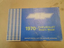 1970 Chevy Owner's Manual  Monte Carlo Caprice Impala Station Wagon