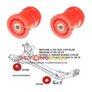 2 Silentbloc polyuréthane pour l'essieu arrière, Megane II, III, Scenic