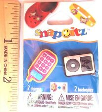 Snap It Snap Itz 2 Charms Cell Phone and MP3 Player, NEW