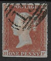 SG9.  1d.Pale Red-Brown (Worn Plate). 4 Margins. Very Fine Used.  Ref.09116