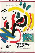 ITALIA MAXIMUM MAXI CARD MANIFESTAZIONE FILATELICA MILANOFIL '89 1989 B873